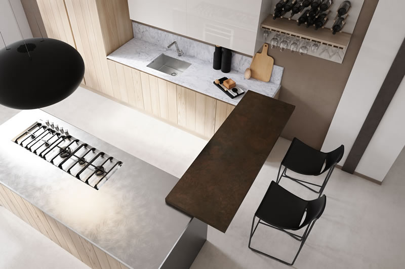 deisgn kitchens solid wood made in italy kitches - Cucine Minimal