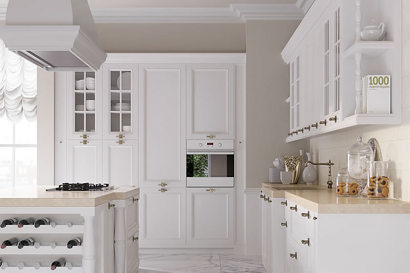 Italian Country chic kitchens elegant contemporary kitchens AURORA