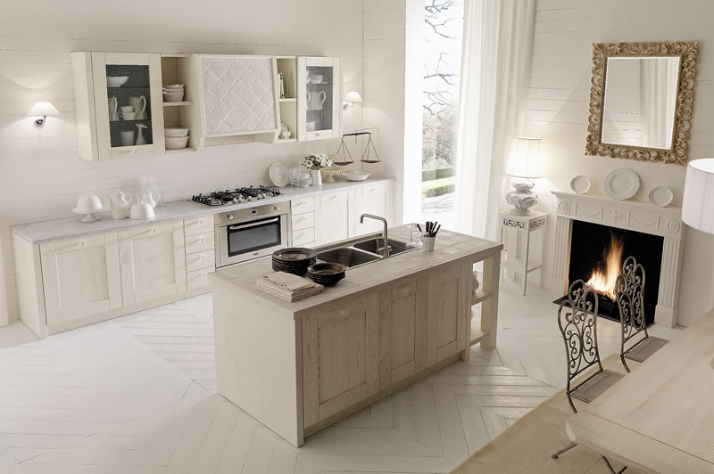 Italian country chic kitchens modular elegant kitchens solid wood ...