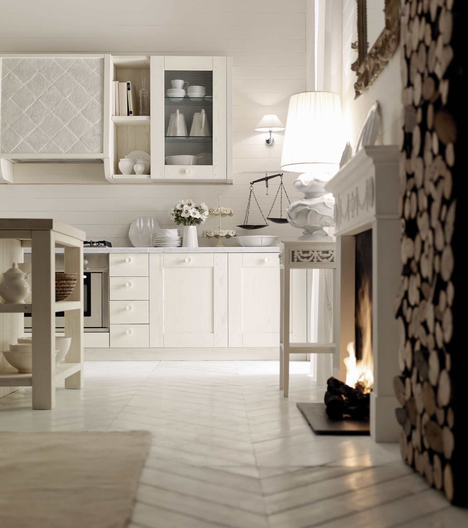 Molto Italian country chic kitchens modular elegant kitchens solid wood  YN13