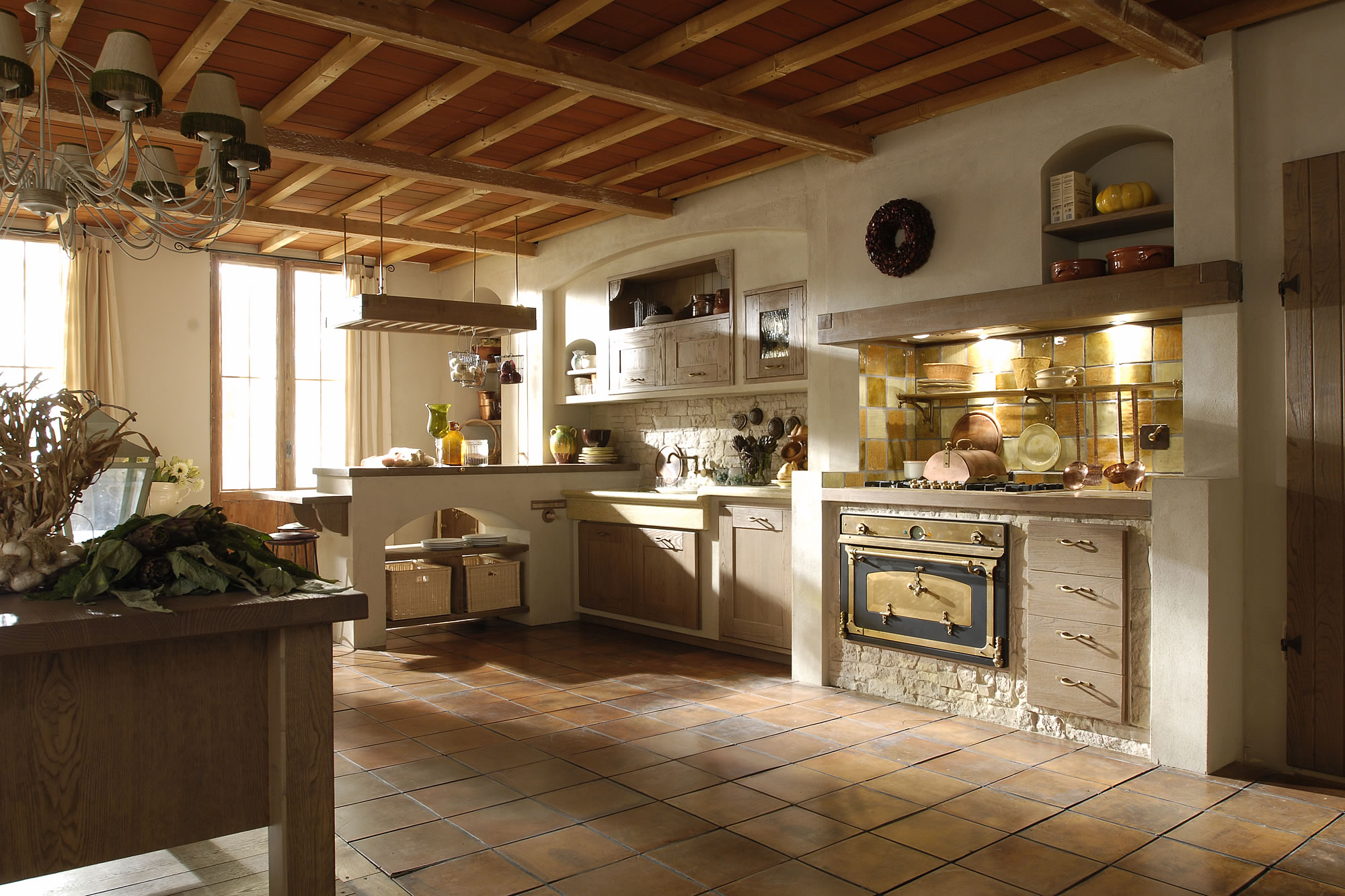 Italian country chic kitchens modular elegant kitchens solid wood rustic kitc...