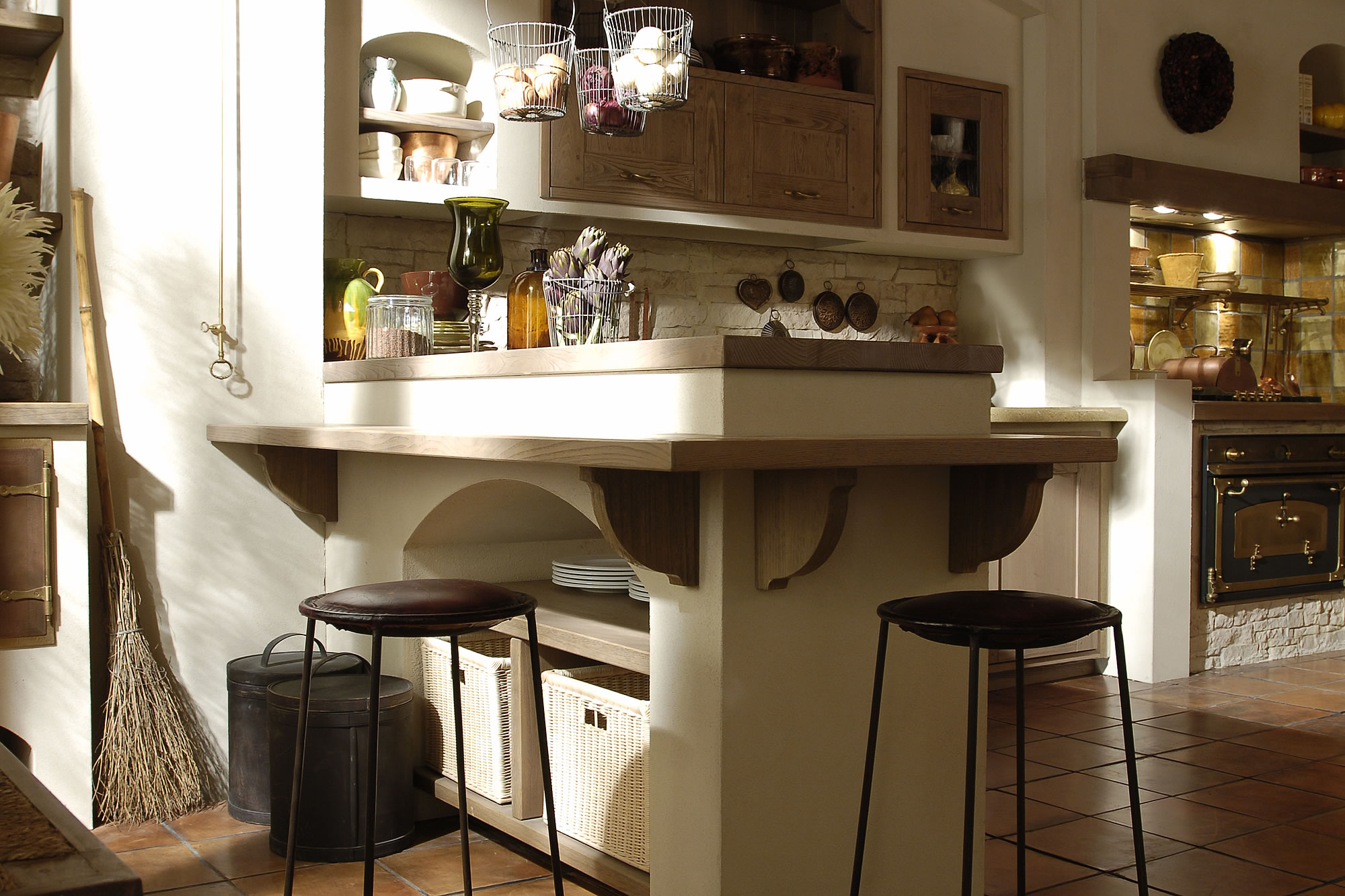 Piastrelle decolate per cucina country - Cucine country chic ...