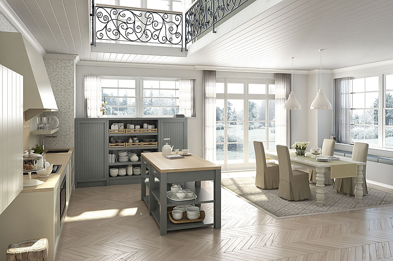 Italian country chic kitchens deco kitchens solid wood eco ...