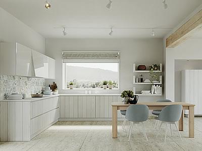 Cucina in legno contemporanea moderna componibile for Cucine di design outlet