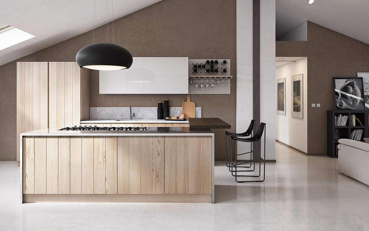 Cucina legno bianco excellent carrello da cucina in - Aurora cucine prezzi ...