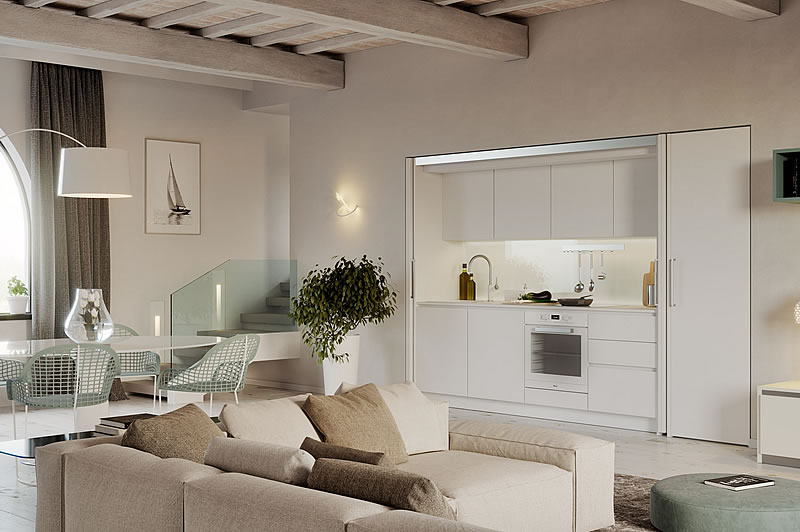 Cucina design contemporaneo laccata