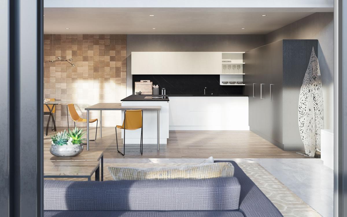 Cucine moderne design materico componibile - Cucine lineari moderne ...