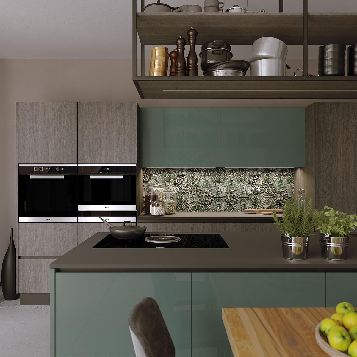 Cucine moderne design materico componibile