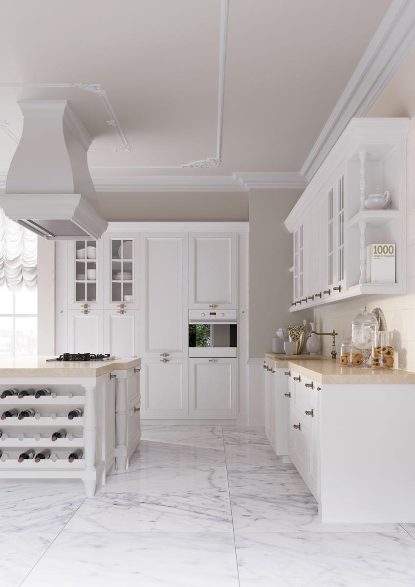 Cucine eleganti Cucine bianche country chic componibili ...