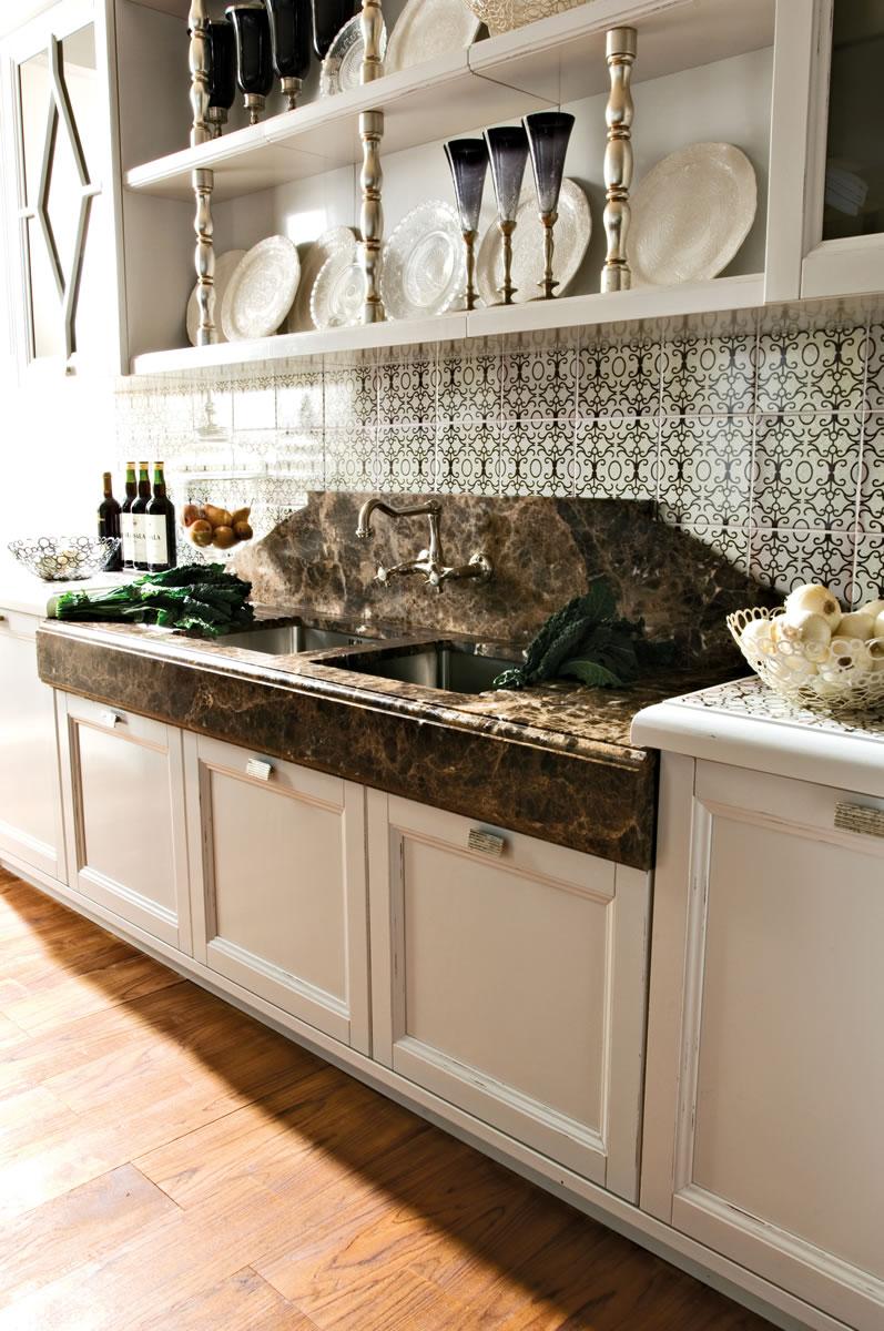 Cucine eleganti barocche cucine bianche country chic componibili ...