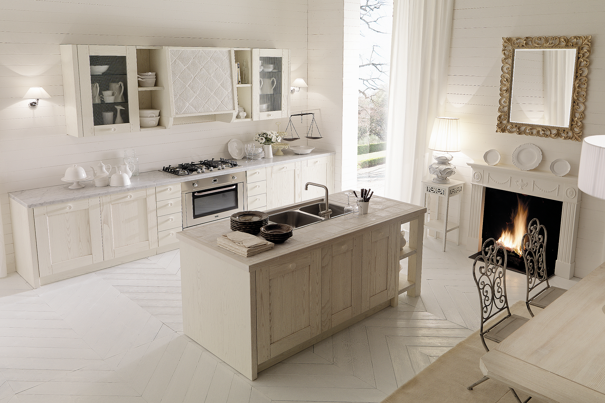 Penisola Cucina In Muratura italian country chic kitchens modular elegant kitchens solid