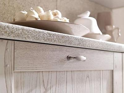 Cucine bianche country chic in muratura cucine in legno massello ...