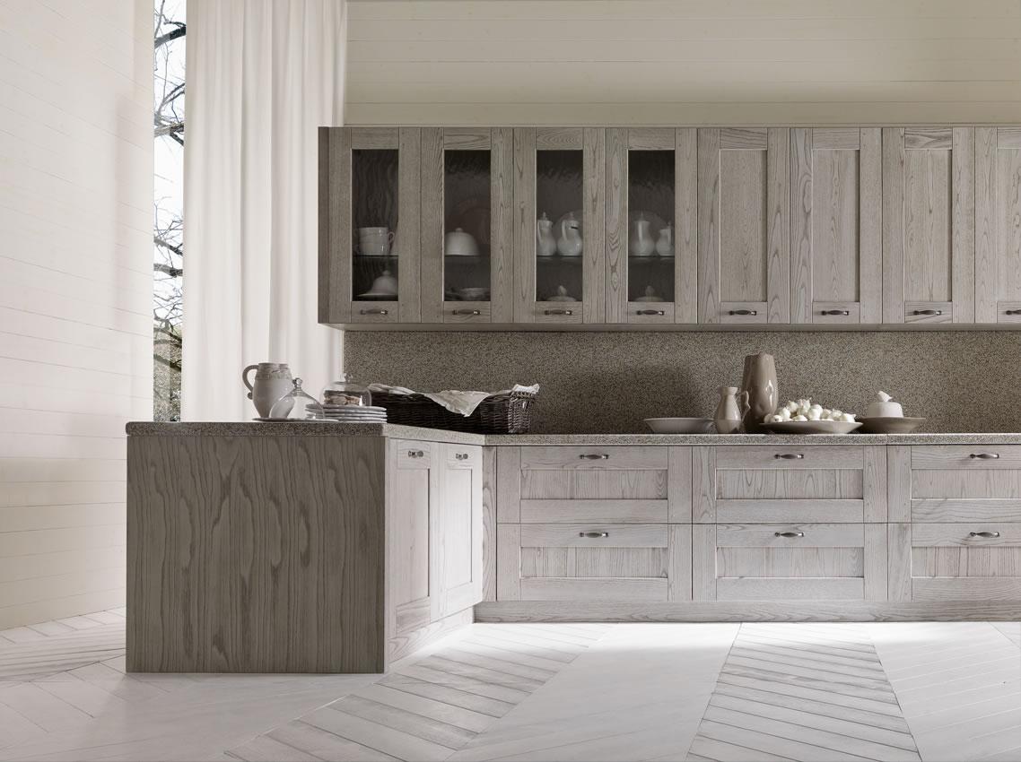 Cucine bianche country chic in muratura cucine in legno ...