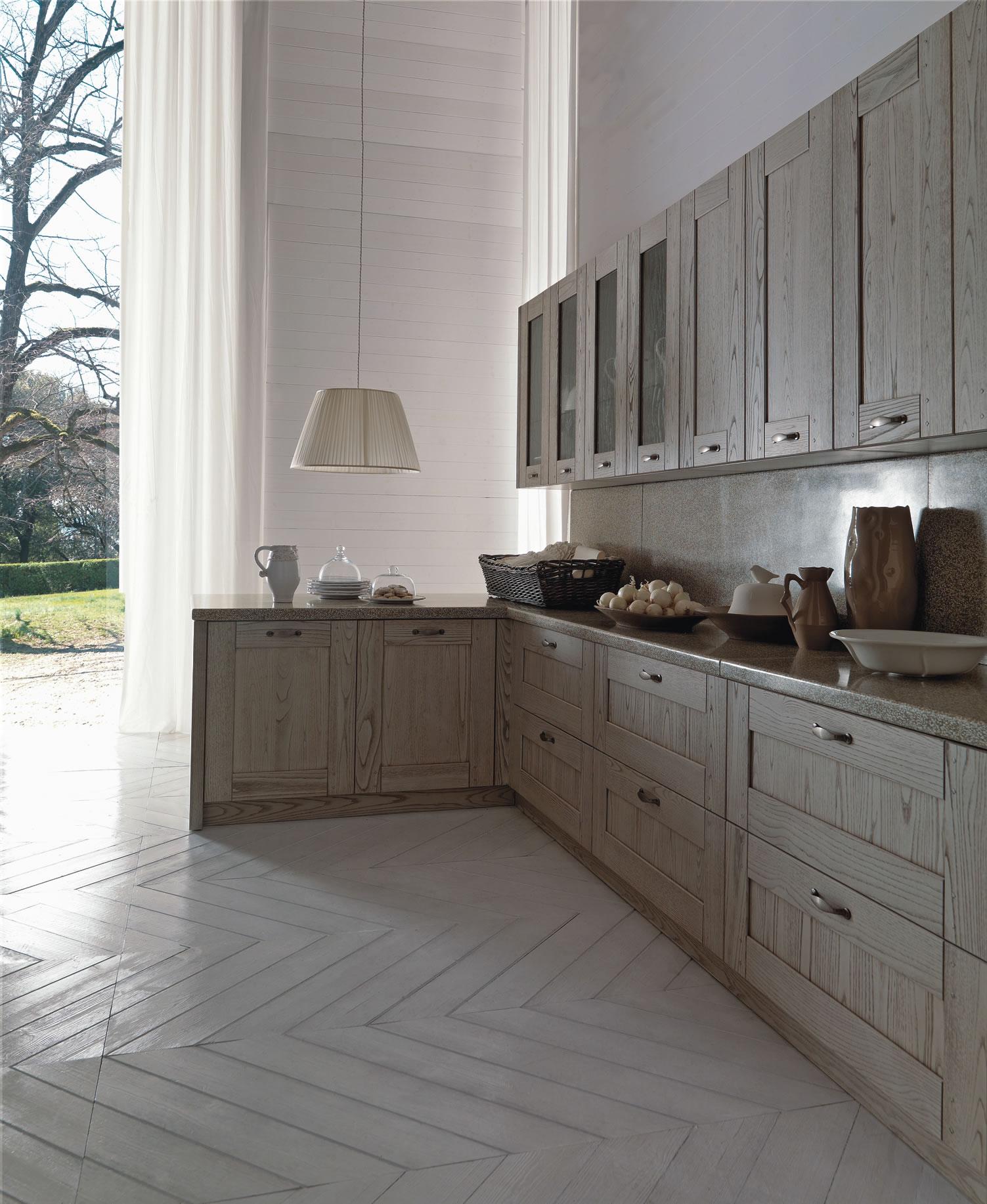 Cucine bianche country chic in muratura cucine in legno for Cucine lineari bianche