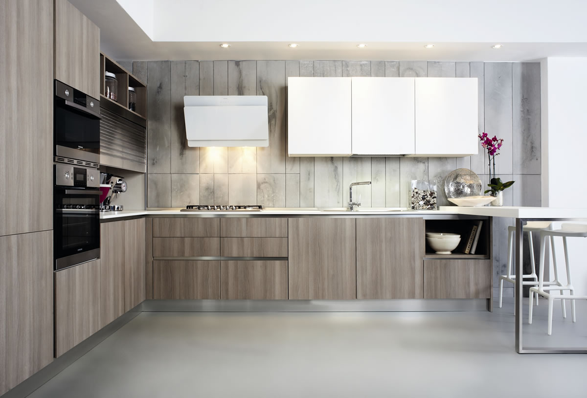 Cucine design contemporaneo laminato colorate siena poggibonsi - Cucine decorate ...