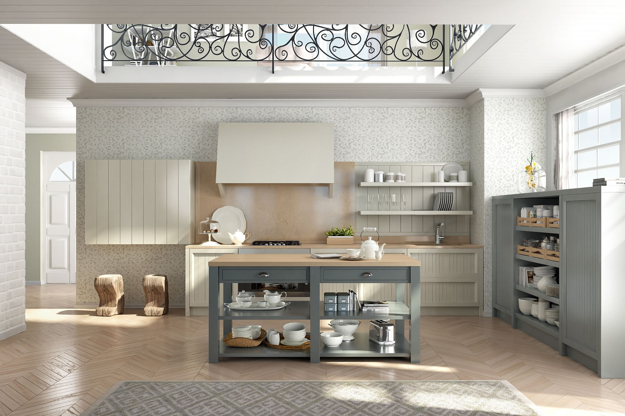 Cucine design stile inglese componibili decorazione d 39 interni farrow ball siena - Foto cucine country ...