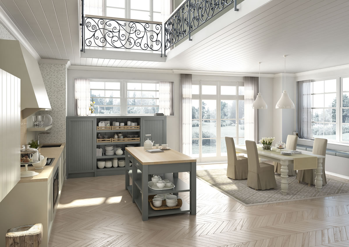 Cucine design stile inglese componibili decorazione d for Interni di case rustiche