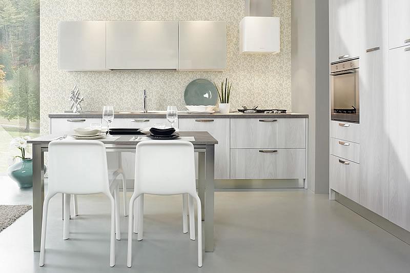 Cucine bianche design contemporaneo componibili laminato ...