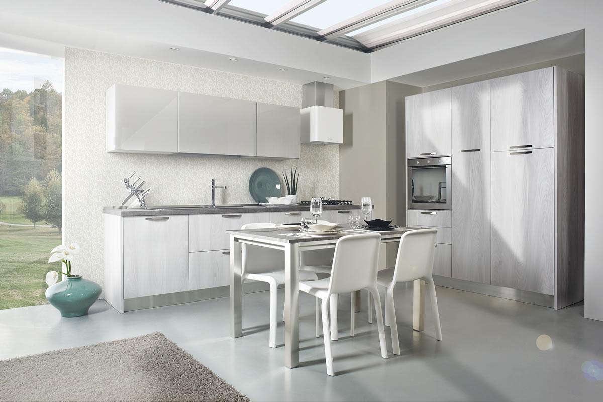Cucine bianche design contemporaneo componibili laminato for Cucine di design outlet