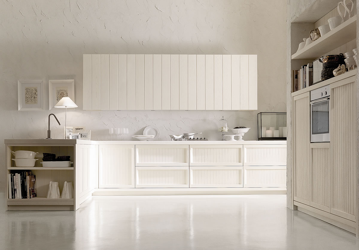 Cucine country chic stile moderno componibili in legno - Cucina country provenzale ...