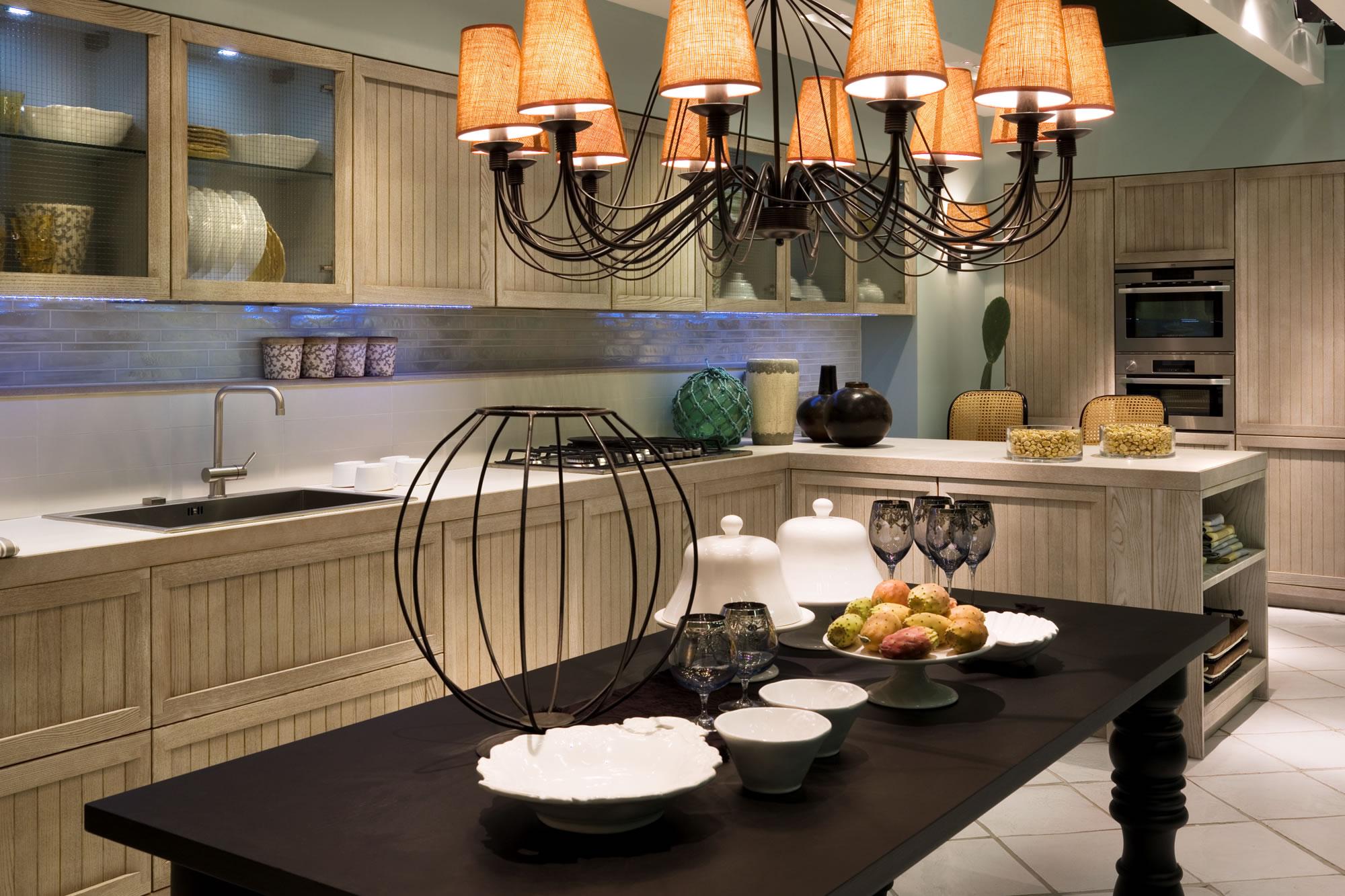 Cucine country chic stile moderno componibili in legno - Cucina muratura country ...