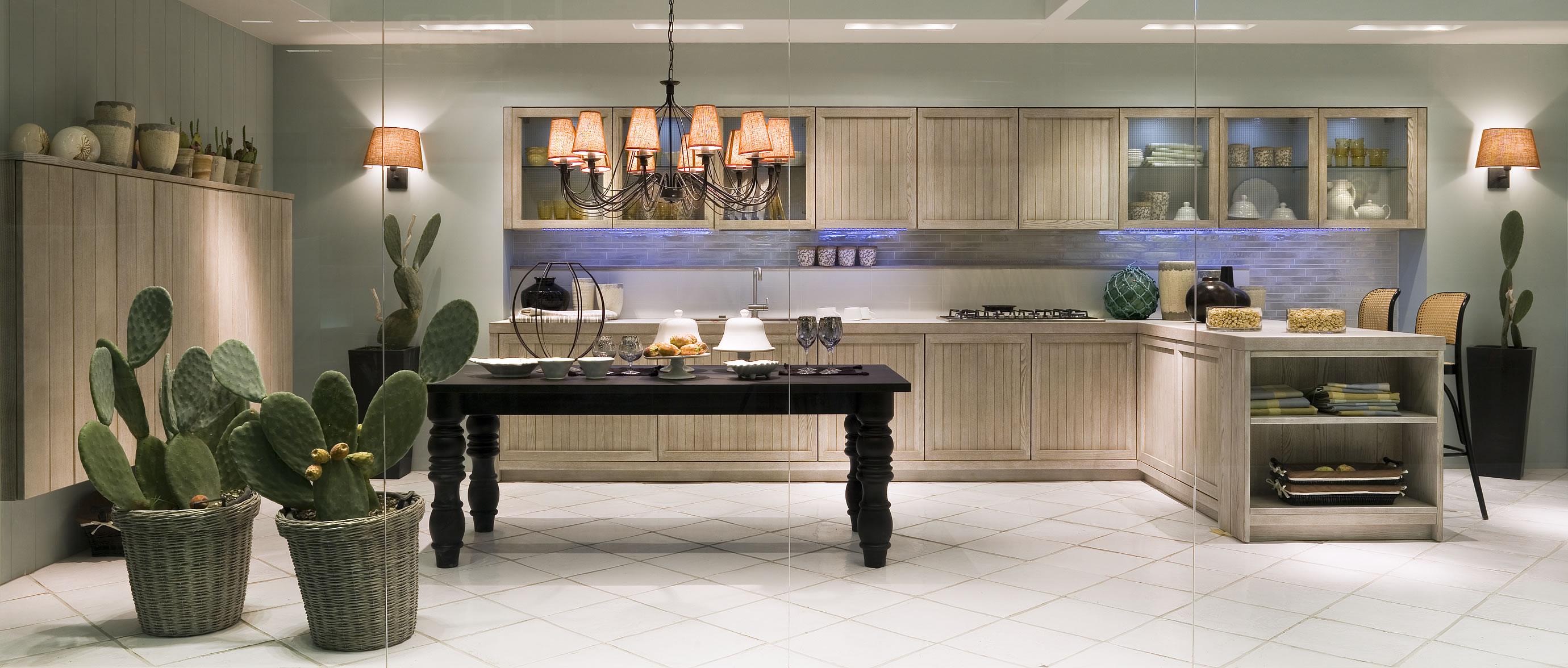 Cucine country chic stile moderno componibili in legno massello ...