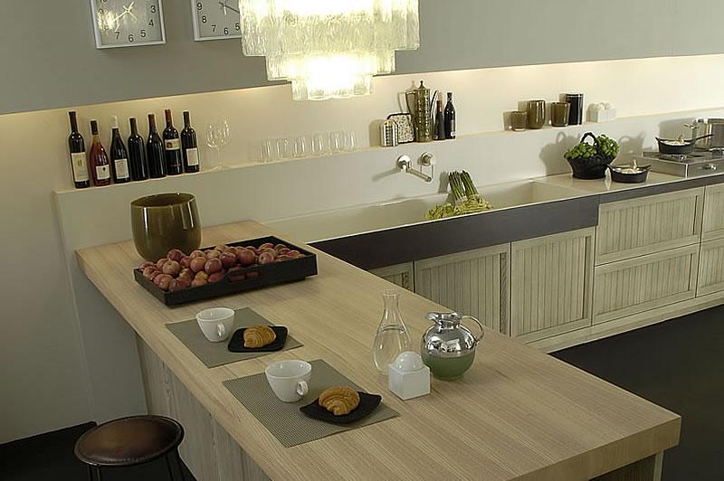 Cucine Bianco Grigio : Cucine country chic stile moderno componibili in legno massello