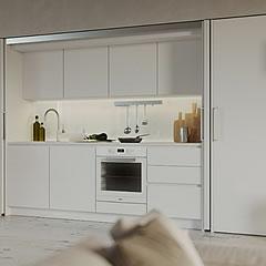 La cucina che puoi nascondere. Idee per un open space al passo coi ...